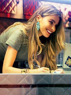 SOFIA VERGARA'S DANGLERS photo | Ippolita turquoise cascade earrings, available for $2,995