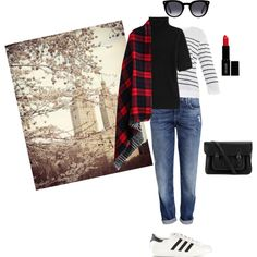 Keep it simple by gabriela-kiteva on Polyvore featuring Steffen Schraut, A.P.C., H&M, adidas Originals, The Cambridge Satchel Company and Lord & Berry