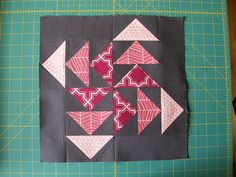 flying geese tutorial - adding this block to my sampler quilt, since I still need 2 more blocks. I've wanted to do a flying geese forever!