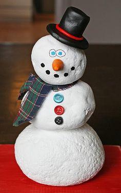 simple rock snowman craft. find pebbles, stones, paint and build your snowman- Dalton's art project