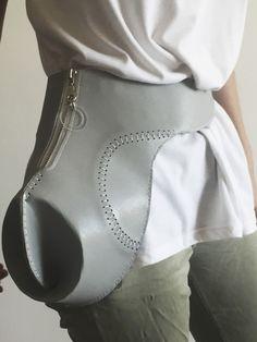 Bag. Architecture. Design. Ideas. Object. Grey. Leather. Seam. Acrylic.