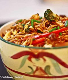 Spicy Vegetable Noodles - More Vegetarian Recipes: http://www.12recipes.info