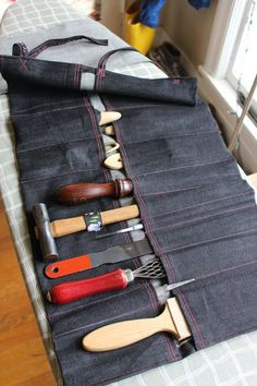 How to: Make a Custom, Heavy Duty Tool Roll to Carry Your Tools Anywhere   Man Made DIY   Crafts for Men   Keywords: sewing, DIY, tools, storage
