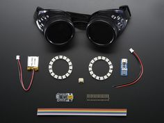 Make your own programmable Neopixel goggles with Adafruit Trinket - Includes Lipo and charger #KaleidoscopeEyes
