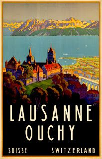 lausanne travel poster - Google Search