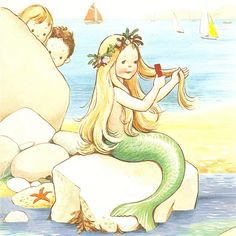 Mable Lucie Attwell - sweet little mermaid