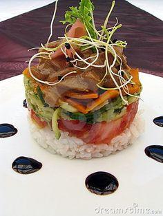 Food Stack ~ Chicken, veggies and rice