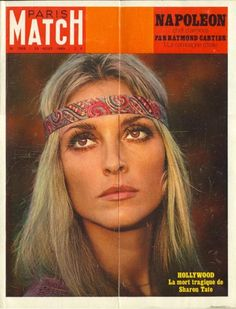 Sharon Tate on the cover of Paris Match. ..RIP..Charlie Manson did this...what an evil man!