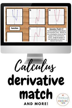 This is a set of slides that you can use that have your students practice matching a derivative to its function. #distancelearning #calculus Calculus, Google Classroom, High School, Students, Teaching, Writing, Math, Digital, Math Resources