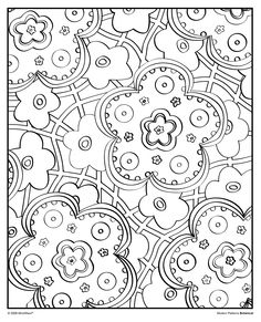 Grab your markers or colored pencils and decorate this groovy image from our Modern Patterns: Botanical coloring book! www.mindware.com