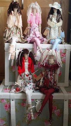 """Lorraine's Tilda Dolls - FACEBOOK ------ Todos mis muñecas tilda son de 26 """" de alto by raggedy.granny.9"""