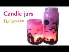 DIY crafts (Halloween decorations) CANDLE JARS, Lanterns- Innova Crafts - YouTube