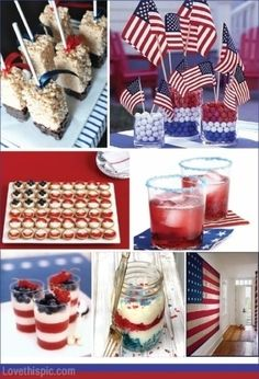 4th of July sweets summer party food decor sweet america 4th of july