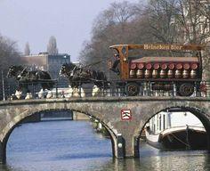 Amsterdam and Heineken. Somewhere in the city Amsterdam Canals, Amsterdam City, Amsterdam Transport, Holland Netherlands, Wonderful Picture, Most Beautiful Cities, Rotterdam, Belgium, Dutch
