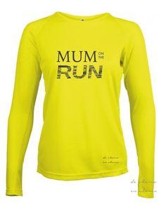 Camiseta manga larga varios COLORES deporte/running mujer cuello redondo MUM on…