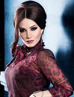 Lebanese Arab pop folk singer, producer, philanthropist and television personality Diana Haddad