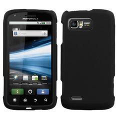 Black Phone Protector Cover(Rubberized) for MOTOROLA MB865 (Atrix 2) $0.05