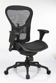 GM Seating Leader Executive Ergonomic Mesh Chair, Lumbar Support and Seat Slide , Like Aeron Chair  GM Seating Leader Executive Ergonomic Mesh Chair, Lumbar Support and Seat Slide , Like Aeron Chair Sleek and professional, the GM Seating Leader Executive office chair features an ergonomic design for comfortable support throughout the day. The mesh seat and back are flexible and breathable, while the tilt and height functions allow for custom comfort.  http://www.newofficestore.com/..