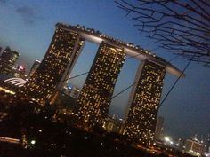 Marina Bay Sands, Singapore captured from OCBC Skyway Gardens by the Bay .. awesome view from here ♡ will be back for sure!