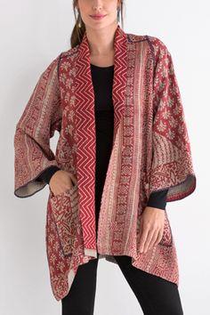 Kantha A Line Jacket #25