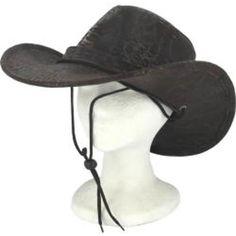 Wholesale Brown Leatherette Cowboy Hat (Case of ddb573794e12