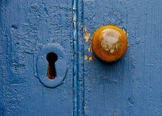 Knob and keyhole Mantle Art, View Image, Knob, Blue, Weather, Door Knob, Bud