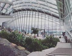 #skygarden en #Londres. Reservando desde 3 semanas antes en su sitio pueden ingresar gratis y tener una vista aérea 360 de Londres