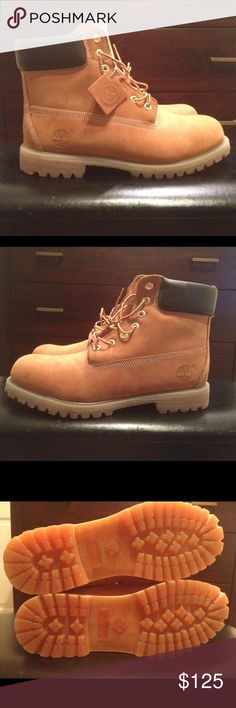 5ca36f3c37f4 Timberland Wheat Boots Wheat Butter Worn Once Indoors! Basically Brand New Size  12 No Box Timberland Shoes Boots