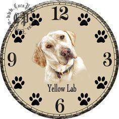 Tilted Portrait of a Yellow Lab Dog Art DIY от CocoPuffsDesigns