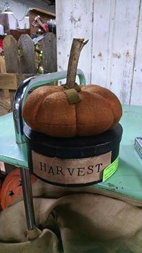 pumpkin on mache box
