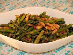 Made with asparagus, almonds, salad oil, salt, black pepper, sugar, ground ginger | CDKitchen.com