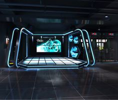 Exhibition Stand Design, Exhibition Booth, Backdrop Design, Booth Design, Vr Room, Virtual Reality Education, Concert Stage Design, Gaming Lounge, Spaceship Interior