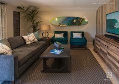 Surfboard in 60's cottage by the beach, Maraya Interior Design