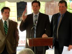 From left: Lackawanna County Commissioners Corey D. O'Brien, Jim Wansacz, and Patrick O'Malley.