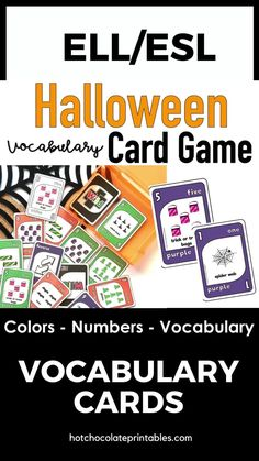A great Halloween party game for young learners ELL,EFL, ESL classrooms.