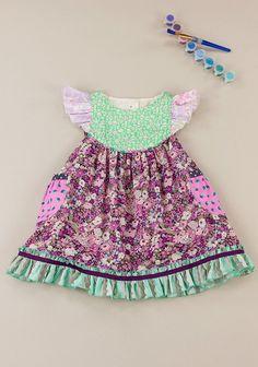 Spot Of Tea? Liberty Flutter Dress (RV $82)