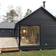 Modular homes by Denmark based Black House Exterior, Exterior House Colors, Exterior Design, Affordable Housing, Prefab Homes, Home Fashion, Cabana, Window Treatments, Future House