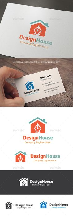 Design House Logo Design Template Vector #logotype Download it here:  http://graphicriver.net/item/design-house/11095613?s_rank=888?ref=nexion