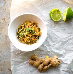 Spicy Peanut-Ginger Soba Noodles