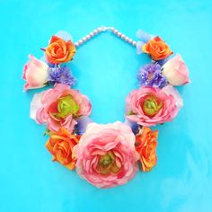Necklace Flower, from the flower collection... more flowers on http://inekeottejewelry.com/