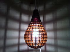 Teardrop Pendant Light - laser cut by robyward.