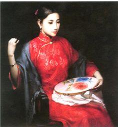 huile sur toile en 1995 de Jiang Changyi (chinois)