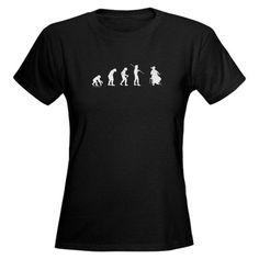 $27 Cello Evolution Funny Womens Dark T-Shirt by CafePress