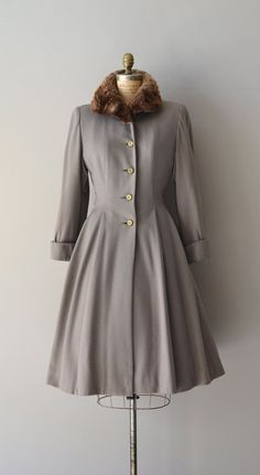 Lolland wool coat / vintage 40s wool princess coat / by DearGolden, $475.00