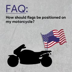 For two flags: The US flag should always be on the right and the other flag flies on its left, (which is the viewer's right), facing the motorcycle. For several flags: The US flag can be at the center, flying higher than the others. Nascar Flags, Sports Flags, Military Flags, Different Flags, Us Flags, Flag Store, Custom Flags, Support Our Troops, Outdoor Flags