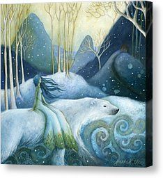 East Of The Sun West Of The Moon Painting by Amanda Clark - East Of The Sun West Of The Moon Fine Art Prints and Posters for Sale