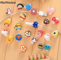 KEITHNICO 100pcs Cartoon Cable Saver Protector USB Charging Data Line Protective Sleeves Cable Winder For iPhone 5s 6s Ipad mini #Affiliate