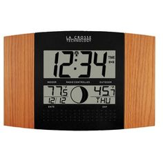 Shop for La Crosse Atomic Wood Finish Digital Indoor Wall Clock. Get free shipping at Overstock.com - Your Online Home Decor Outlet Store! Get 5% in rewards with Club O!
