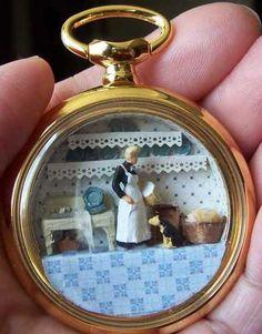 Mini diorama inside watchpiece