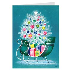 Gordon: Blue Sleigh Holiday Cards